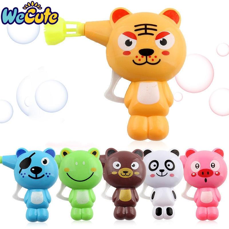 Wecute Kids Toys Soap Water Blowing Bubbles Gun Cartoon Animal Model Bubble Machine Children Water Gun Juguete Gift Outdoor Toys
