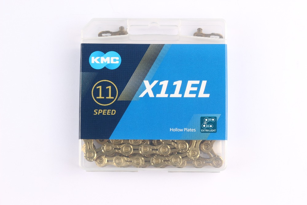 KMC X11EL X11 Bicycle Chain 116L 11 Speed Bicycle Chain with Magic Button for Mountain Rod