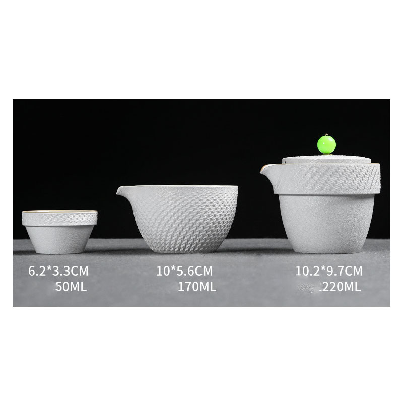 Chinese Kung Fu Tea Set Beautiful And Easy Teapot Kettle Chinese Travel Ceramic Portable Teaset Ceramic Tray Coffee Cup Gaiwan in Teaware Sets from Home Garden
