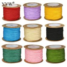 100m 0.8mm Multi Colors Nylon Thread Cotton Cord String Strap Wholesale Necklace Rope for Jewelry Making DIY Beading Thread tyry hu 10m soft satin nylon multicolor cord solid rope for jewelry making beading cotton cord for baby 2mm diy necklace pendant