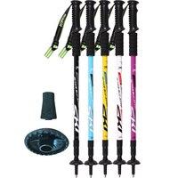 Outdoor Sticks For Nordic Walking Folding Trekking Pole Scandinavian Alpenstocks Stick Walk Cane Ski Bastones Truncheon