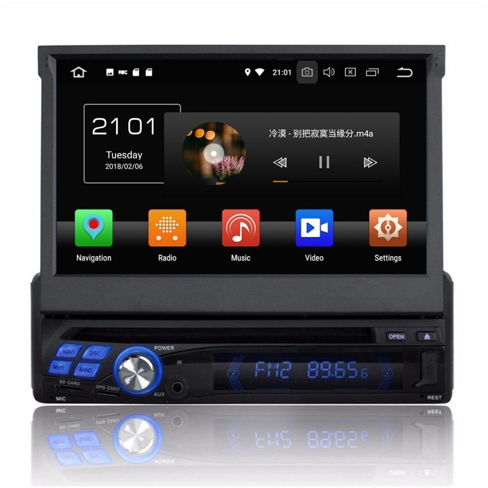 4GB RAM Car Radio GPS Navigation Octa Core 1 Din 7 Android 8 0 Car DVD