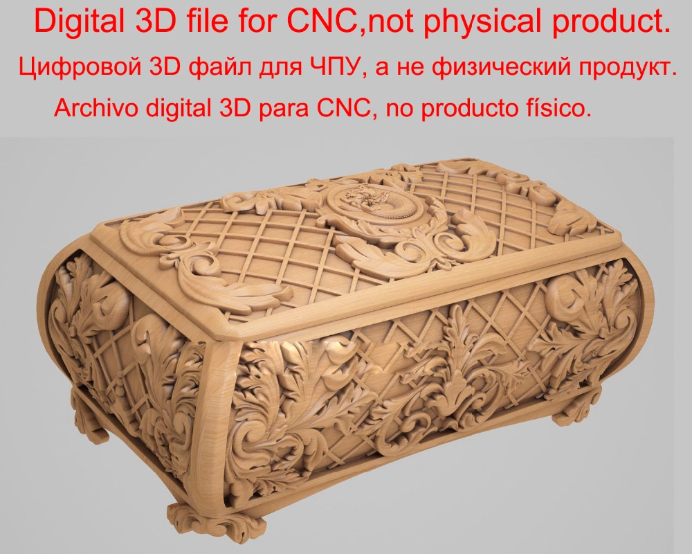 Digital File Beautiful Box 3d Model STL Relief For Cnc STL Format 3d Model For Cnc Stl Relief Artcam Vectric Aspire 2019-1