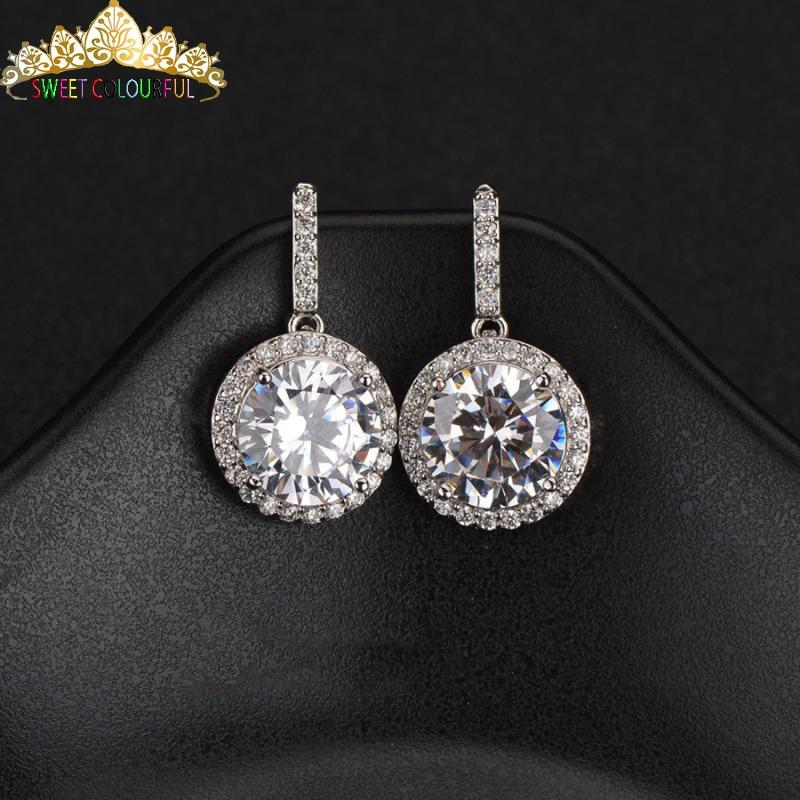 4108b541f7208 1 Carat ct Wedding yellow Moissanite Diamond Necklace 18K 750 White ...
