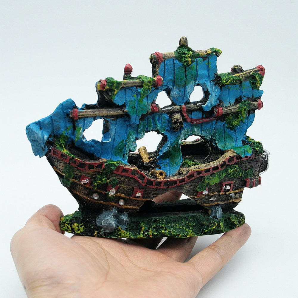 Popular aquarium pirate ship buy cheap aquarium pirate for Fish tank decorations cheap