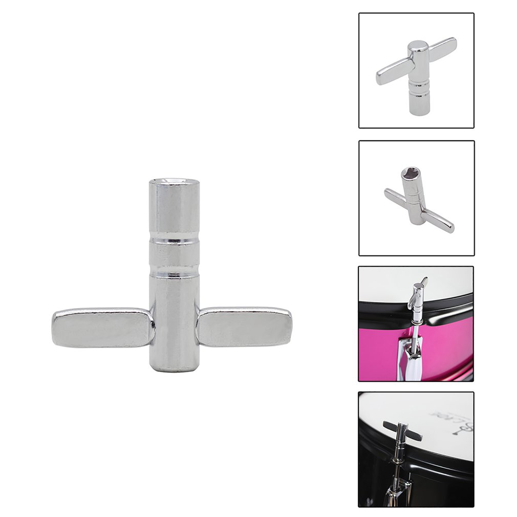 Universal Metal Drum Sticks Skin Tuning Key Tuner Solid Durable Square Socket Parts & Accessories