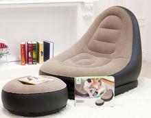Inflatable Living Room Sofa Chair Single person Flocked sofa leisure chair