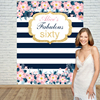 Allenjoy Vinyl Backdrops For Photography Pink Flower Stripe Cute Birthday Background Props Newborn Fabric Space 10ft