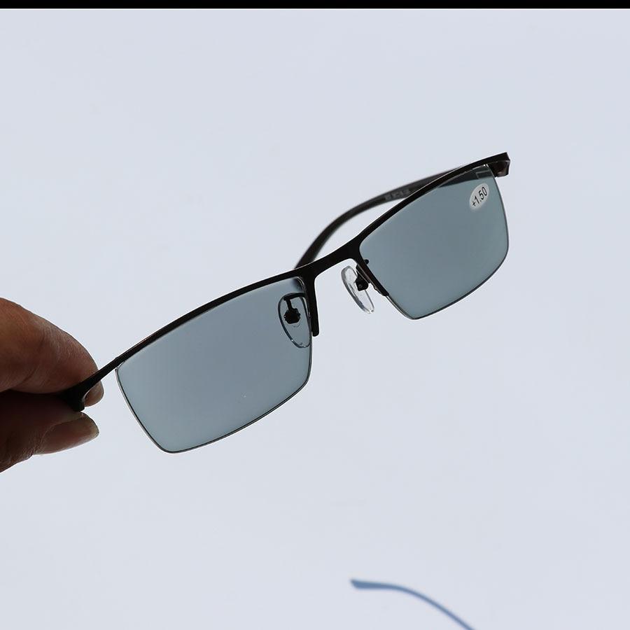 Image 5 - Mens Business Intelligent Discoloration Presbyopic Glasses Metal Alloy Plate Glasses Photochromic Presbyopic Myopia GlassesMens Eyewear Frames   -