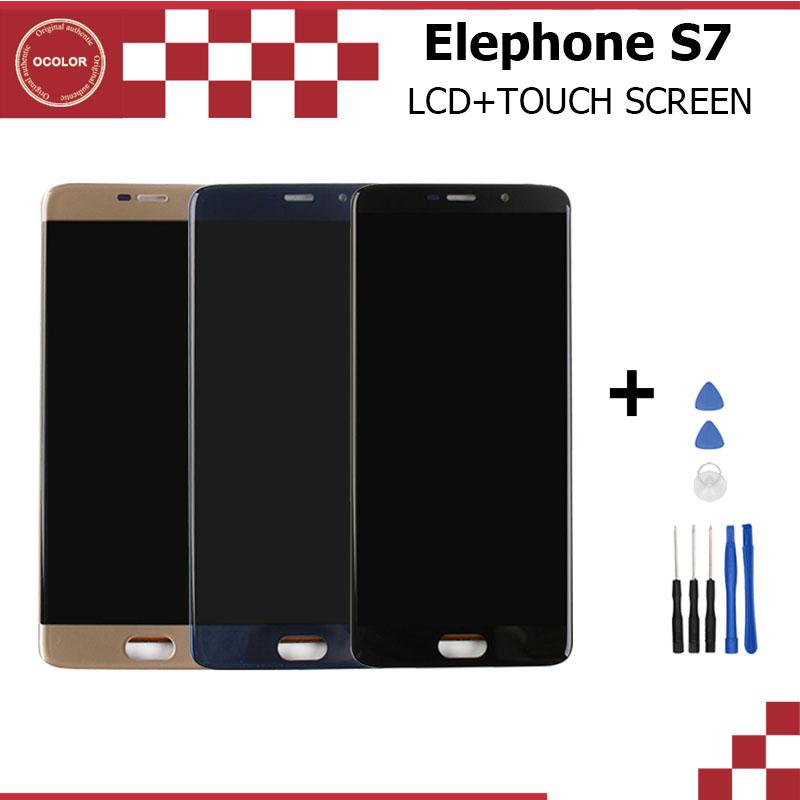Prix pour Elephone S7 LCD Affichage et Écran Tactile Assemblée Réparation Partie 5.5 pouce Mobile Accessoires Pour Elephone S7 + Outils Livraison gratuite