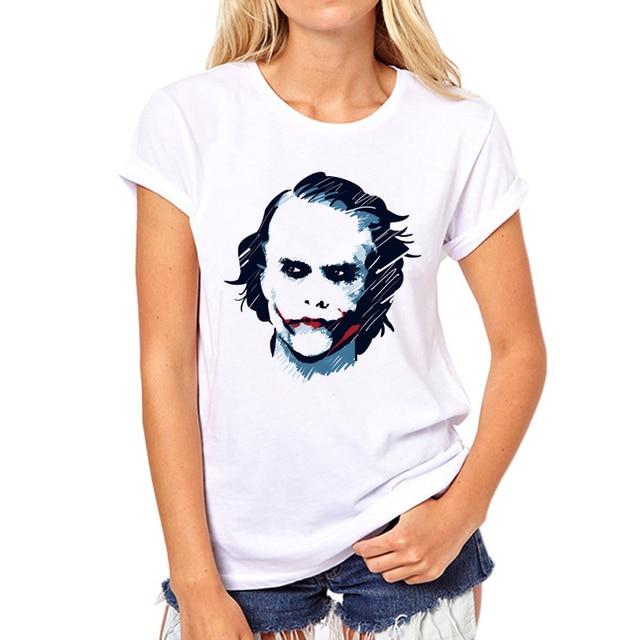 Men Women Retro Shirt Batman Funny Clown Serious Joker Blood White T-Shirt  Harajuku Shirts Fashion White Clown T Shirt 32W-13  cd920bbab7