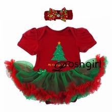 2016 Bébé de Fille De Noël Vêtements Ensembles Enfants De Bande Dessinée de Noël 2 Pcs Costumes Tutu Robe + Bandeau Infantile Nouveau-Né D'anniversaire cadeaux Tenue