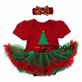 2016 de la Navidad del Bebé Que Arropan Los Niños de Dibujos Animados de Navidad 2 Unids Trajes Tutu Dress + Diadema Recién Nacido Cumpleaños regalos Traje