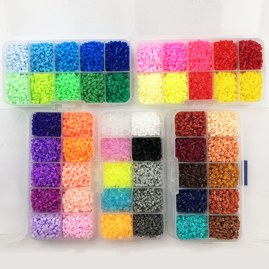 2.6mm Hama Beads Box  Package Pegboard Perler PUPUKOU Beads Kids Education Diy Fuse Bead Jigsaw Puzzle 3D For Children Abalorios