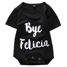 Infant Babies Letter BYE Bodysuits Cotton Newborn Kids Baby Boys Girls Letters Printed Bodysuit Jumpsuit Clothes Outfits