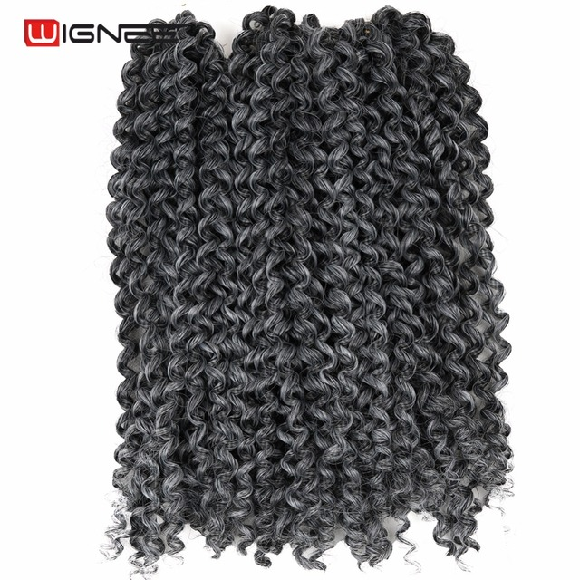 Wignee Ombre Mixed Color Black Light Brown Synthetic Hair Extension