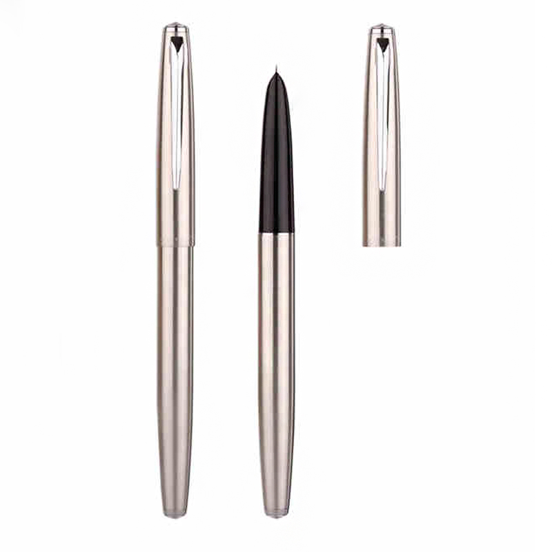 Financial Tip 0.38mm Extremely Fine Fountain Pen Stainless Steel Classic Writing Pens Gift School Office Stationery