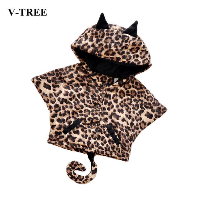 Bebé Chica De Moda De Ropa de Invierno Abrigos de Imitación de Piel de Leopardo Chaqueta de la Capa Para El Recién Nacido trajes de Disfraces de Dibujos Animados Abrigos Niños