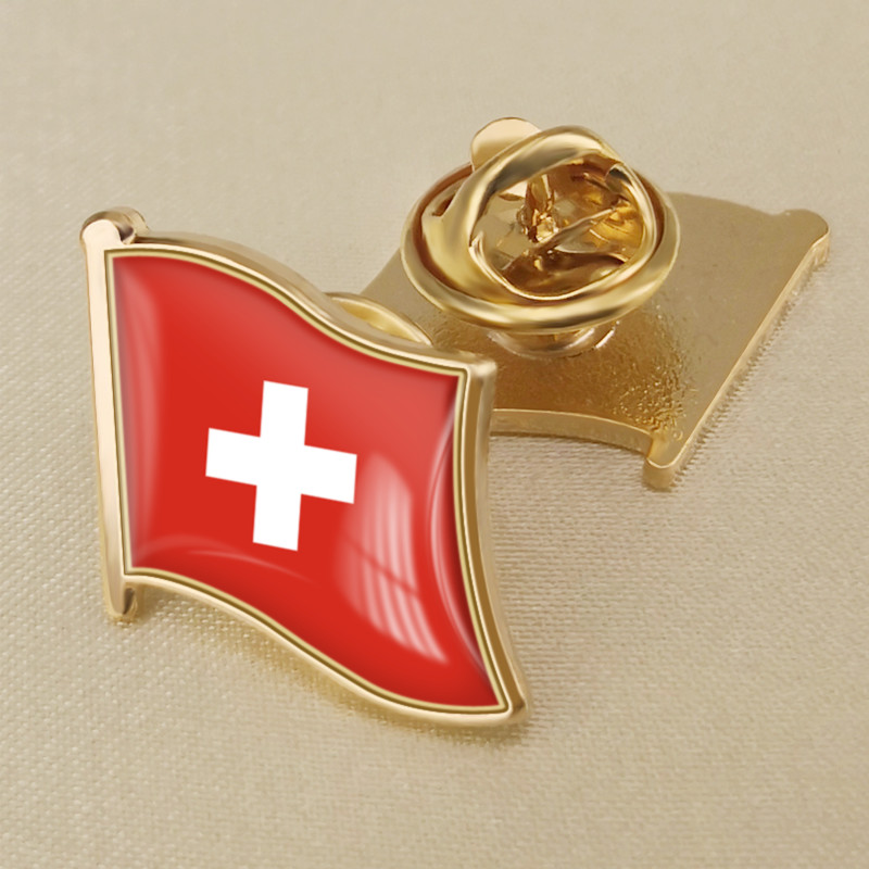 Switzerland Single Flag Lapel Pins