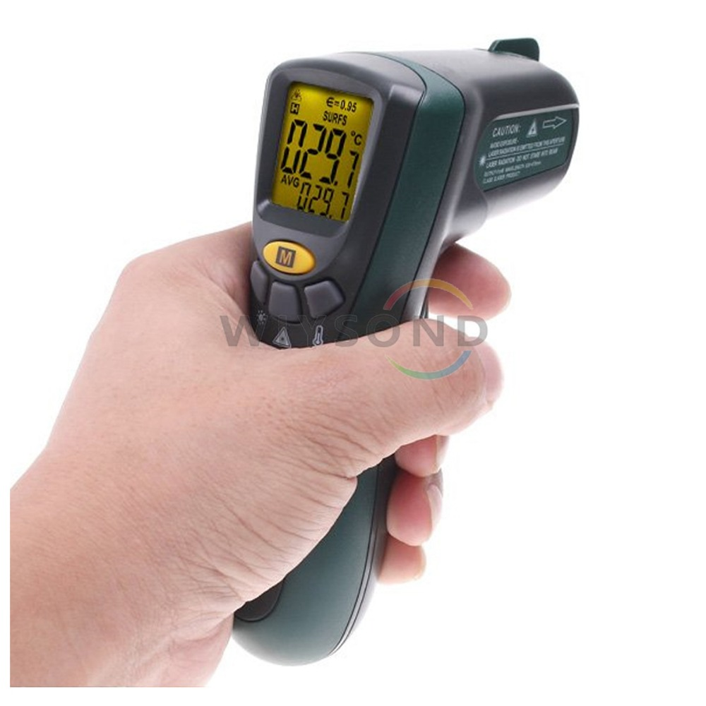 T010 Digital Temperature Meter Tester MASTECH MS6520A Laser Pointer  Non-contact Infrared IR Thermometer FREE SHIPPING  t010 new digital temperature meter tester mastech ms6520a laser pointer non contact infrared ir thermometer free shipping