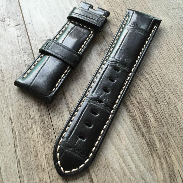 Alligator bracelets, Tous les faits à la main 24 MM / 26 MM / 22 MM rétro en cuir bracelets, Pour PAM