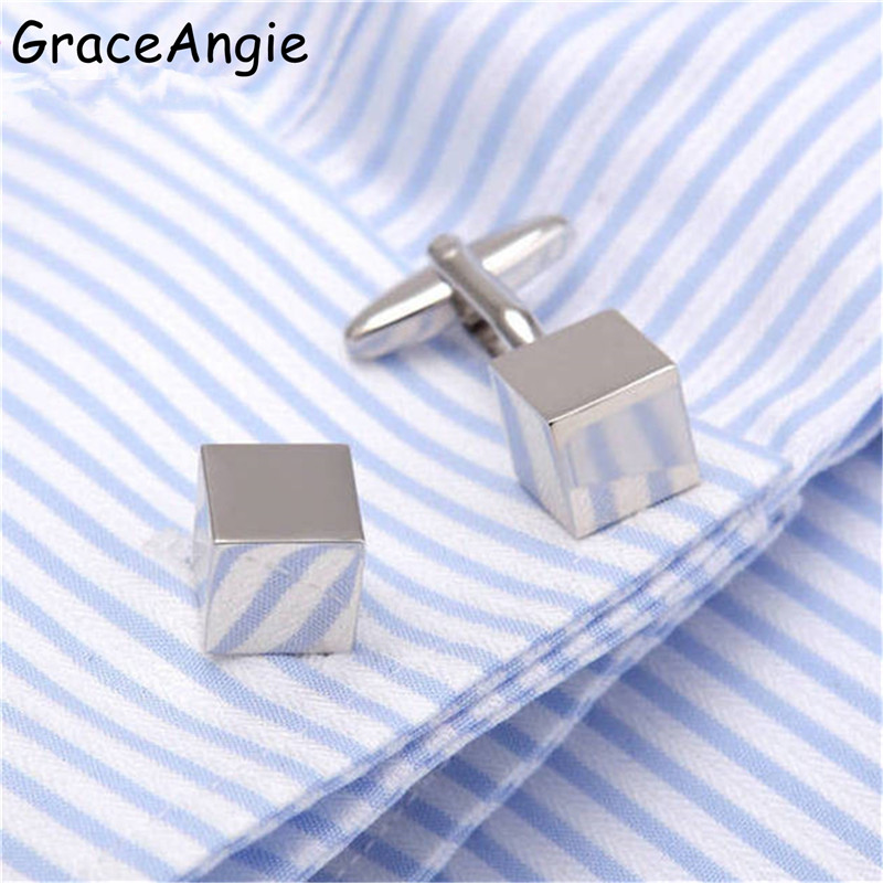 The Cheapest Price Graceangie Men Jewelry Cuff Links Copper Cufflink Rubik Cube Design Dress Shirt Cuff Links Wedding Gifts Classic Steady Cuffs An Enriches And Nutrient For The Liver And Kidney