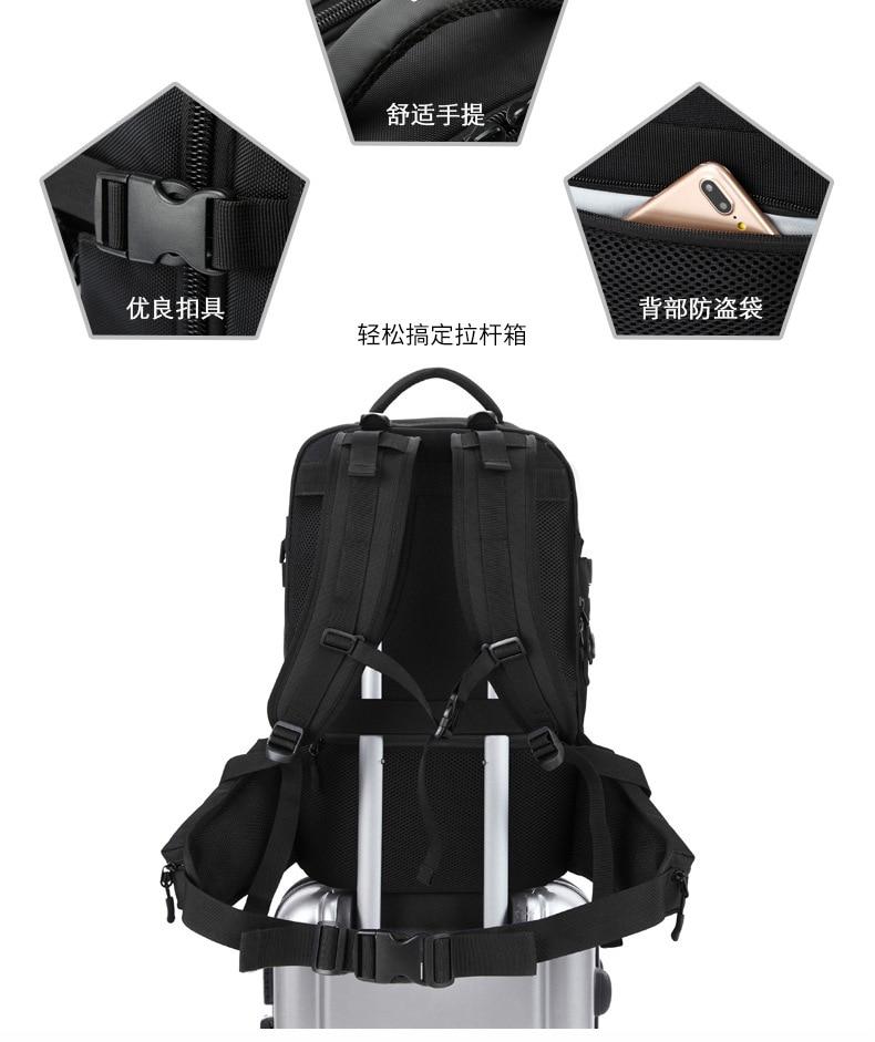 ZYJ hommes d'affaires voyage randonnée sac à dos pour ordinateur portable avec poche à chaussures femmes USB Interface de charge école sac à dos sac à dos sac à dos - 6