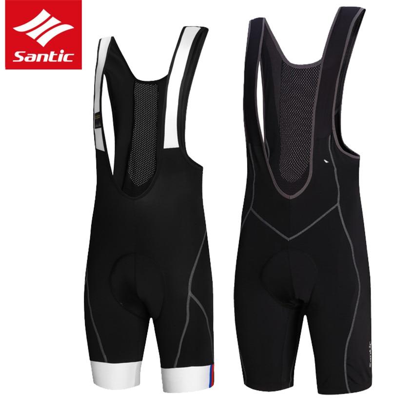 SANTIC Summer Mens Cycling Bib Shorts Pro Coolmax Breathable Padded MTB Cycle Bike Shorts For Men