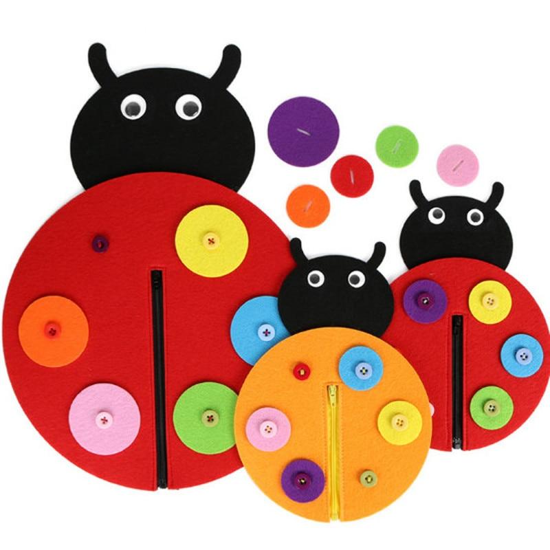 1pc Hand Zipper Button Teaching Kindergarten Manual Diy Weave Cloth Early  Education Toys Montessori Teaching Aids Math Toys #3