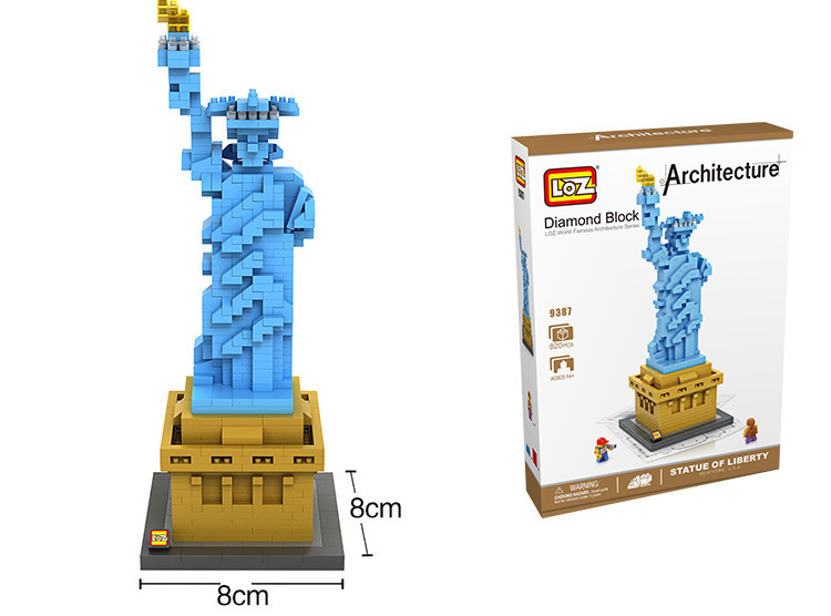 Factory LOZ DIY Blocks Easter Island Micro Blocks the Statue of Liberty Small Bricks the white house DIY Building Toys Kids Toys the small island paradox