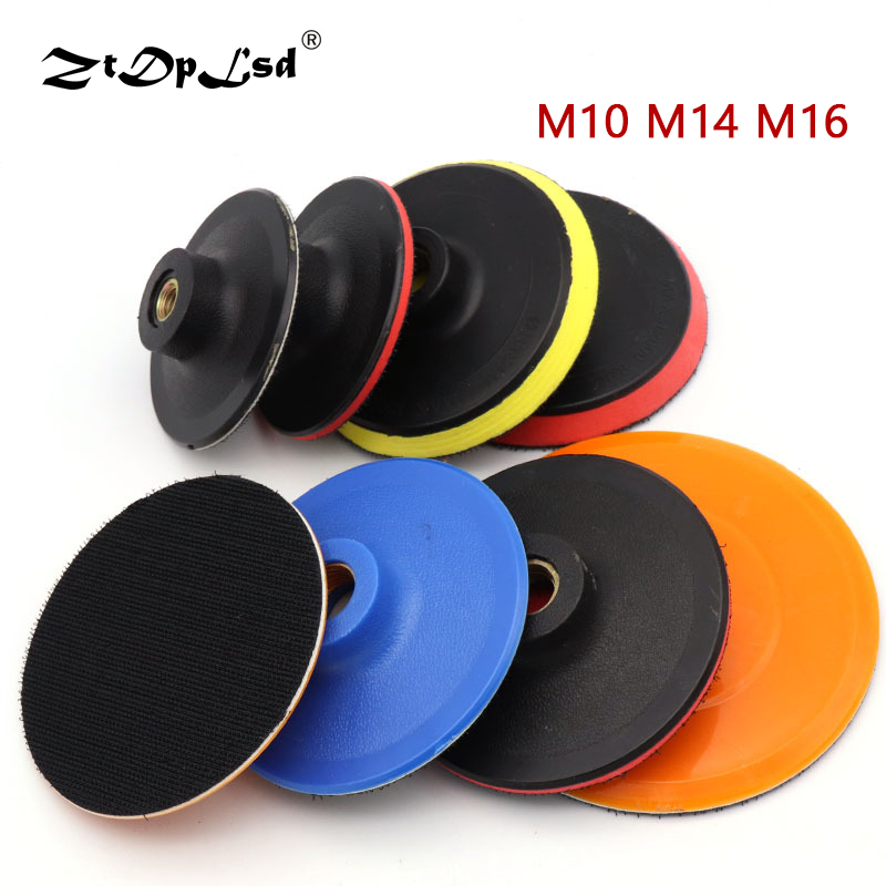 1PCS Thread Flocking Sandpaper Sucker Pad M10 M14 M16 Self-adhesion Sanding Disc Backing Power Sander Parts Polishing Suction