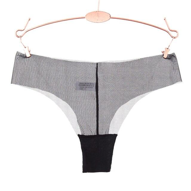 Wanita Sexy Rendah Pinggang Transparan G String Super Tipis Padat T Kembali Celana  Dalam Wanita Pakaian d10de00fa0