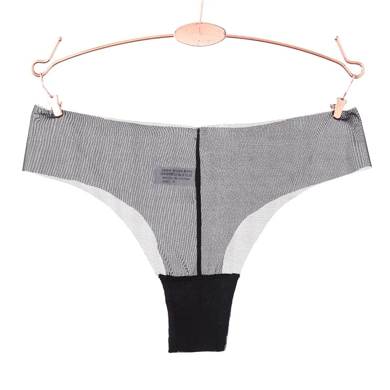 Women Sexy Low Waist Transparent G String Super Thin Solid T Back   Panties   Ladies Underwear