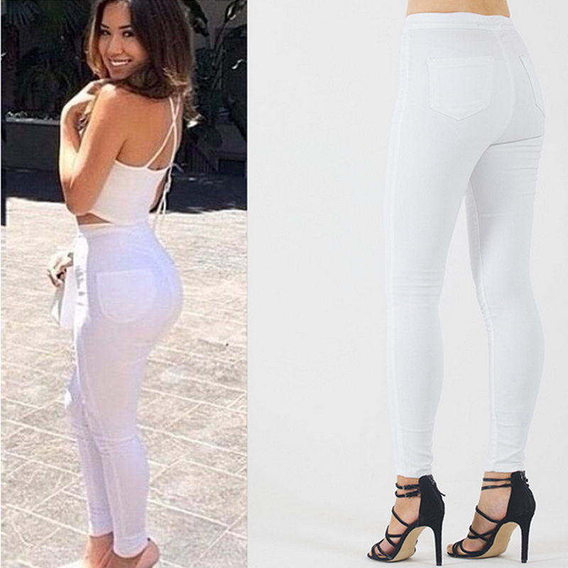 White high waisted skinny jeans plus size – Global fashion jeans ...