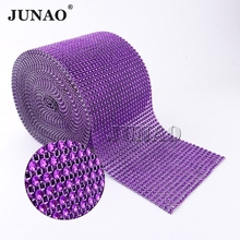 Purple Plastic NO Rhinestone Trim Sewing Mesh Chain Strass Crystal Banding  Applique For Garment Wedding Party Decoration 24 Rows 4bfce91ce542