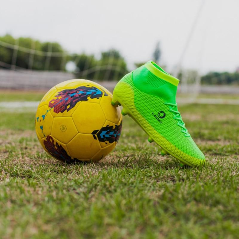 35-45 tobillo alto hombre FG botas de fútbol 2018 nuevo de alta ... 3781834f2f529