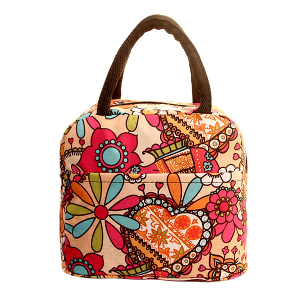 Hot Sale Lunch Bag Fashion Thermal Insulated Tote Student Picnic Lunch Bag Waterproof Handbag Pouch Household Accessories F704