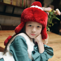 2018JKP New winter spring rabbit fur hat suitable for baby, girl boy child winter hat lovely fashion hat knitting caps discount