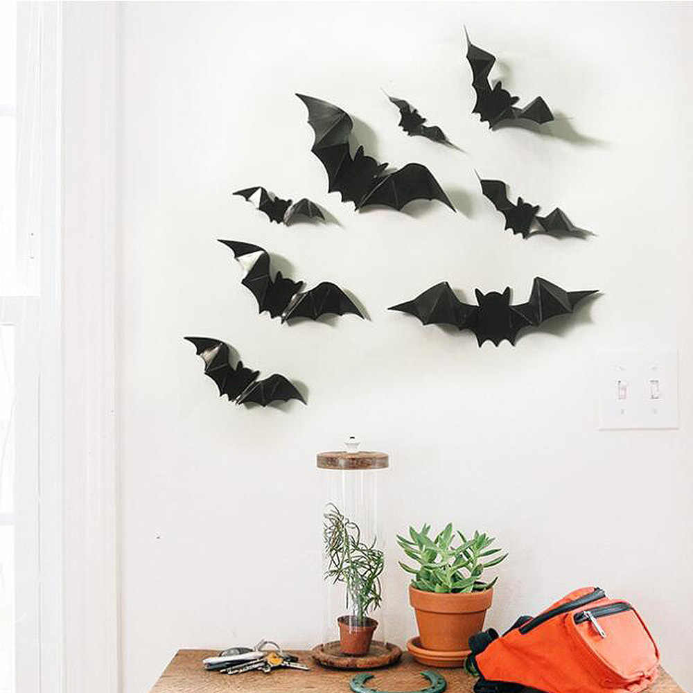 Home Decorative Luminous Wall Sticker Bat Light Emitting Decals For Children Living Room