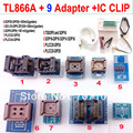 TL866A programmer +9 adapters + IC CLIP High speed TL866 AVR PIC Bios 51 MCU Flash EPROM Programmer Russian English manual