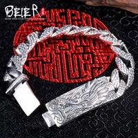 Байер новая store100 % 925 стерлингового серебра Дракон браслеты для мужчин Высокая польский ручной цепи Fine Jewelry sctysl0198