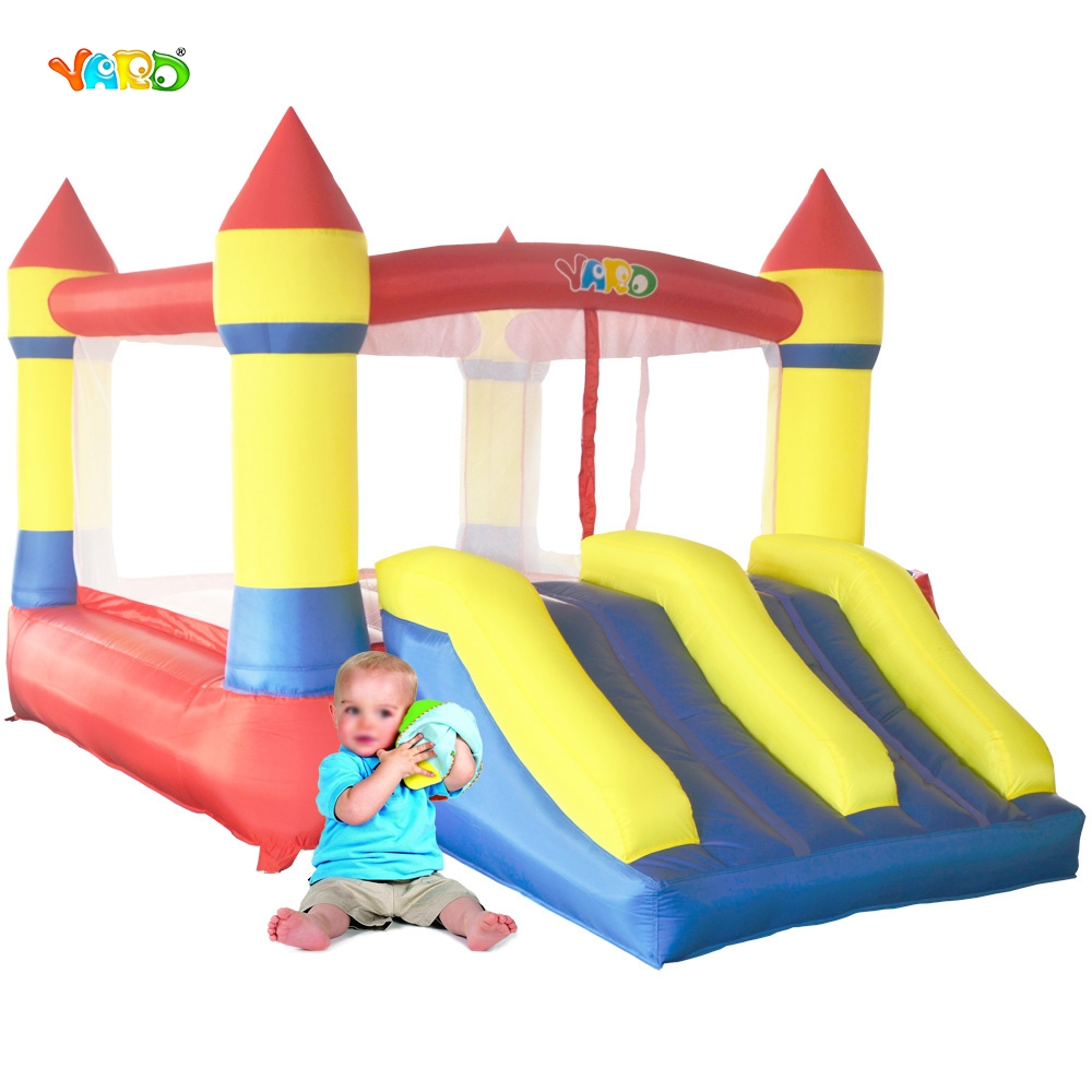 YARD Home Use Mini Inflatable Bouncers Kids Bouncy Castle Outdoor Backyard Playing Trampoline with Blower new large size jumping castle double inflatable slide inflatable bouncers with blower