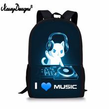 DJ Love Print Backpack Female School Supplies Satchel Casual Book Bag School Bag for Kids Boy Girls Backpack Helmet Junior Bag цена