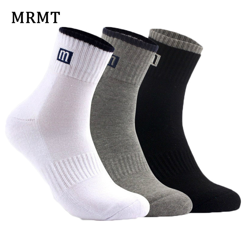 3 Pairs /Lot High Quality 100% Cotton   Socks   Men And Women   Socks   Pure Color Male   Socks   3 Colors Hot Sale 2019 MRMT For Winter