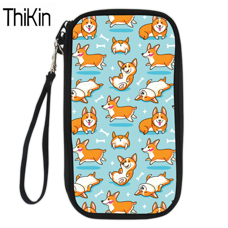 Forudesign Cute Corgis Printed Women Men Credit Id Card Holder Case Business Bank Cards Bag Leather Small Purse Carteira Mujer Coin Purses & Holders