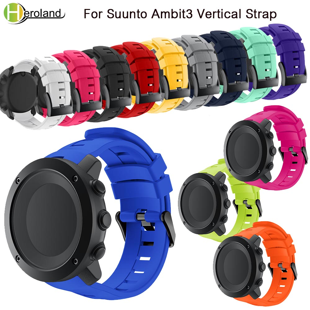 Bracelet Band For Suunto Ambit 3 Vertical Watch Band Silicone Replacement Wristband For Suunto Traverse Alpha/Spartan WatchStrap