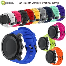 Bracelet band for Suunto Ambit 3 Vertical Watch Band Silicone Replacement Wristband for Suunto Traverse Alpha/Spartan watchStrap часы suunto suunto ambit 3 vertical hr синий