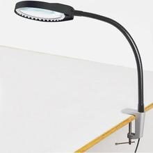 Escritorio lupa 8X lupa de máquinas de mesa varilla suave dimmable LED lupa luz para lectura reparación e inspección