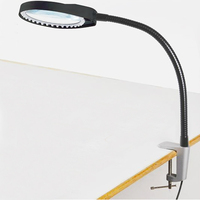 Desktop Magnifier 8X Magnifying Glass Table Machine Soft Rod Dimmable LED Light Magnifier For Reading Repairing