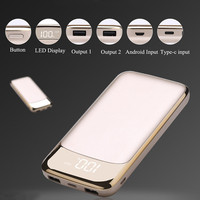 TOP Qualiity Power Bank 20000mAh External Battery Portable Mobile Phone Charger Universal Dual USB Powerbank For